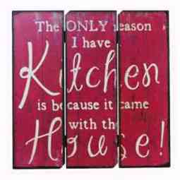 Wood Kitchen Plaque