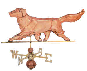 Golden Retriever Weather Vane