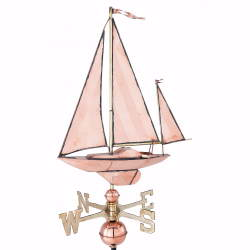 Cottage Sailboat Weather Vane