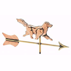 Cottage 3-D Dog Weather Vane