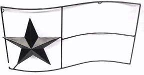 Wrought Iron Texas Flag Wall Decor