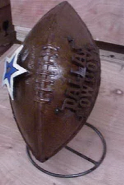 COWSBOYS metal football
