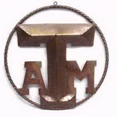 Texas Aggies Rustic Metal Star Ring