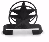 Wrought Iron Lone Star Napkin Holder With Scroll Base