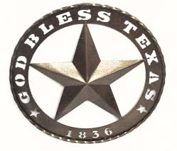 Bronzed Texas Star 1836