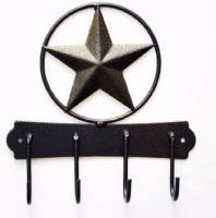 Bronzed Texas Star Iron Key Holder