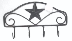 Wrought Iron Curtain Rod Holder