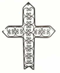 Wrought Iron Scroll Cross