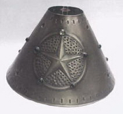 Small Tin Lamp Shade with Punched Holes