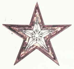 Small Star Wall Decor with Wrought Iron