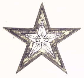 Large Star Wall Decor with Wrought Iron