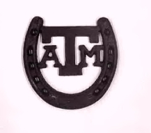 Wrought Iron Aggie Horseshoe