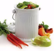 White Ceramic Compost Crock