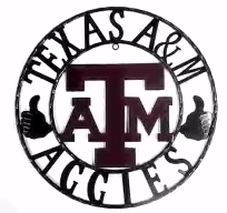 Texas Aggies Rustic Metal Ring