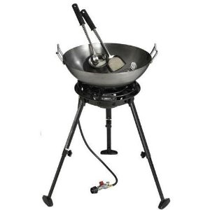 Outdoor Gourmet 22 Carbon Steel Wok
