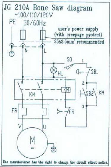Wiring Diagram For a Table butcher Saw