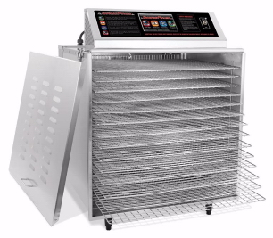Digital Touch Screen Food Dehydrator w/ Stainless Steel Shelves
