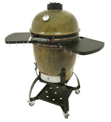 Cypress Ceramic Grill with Stand and Shelves