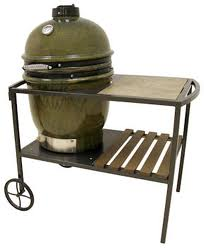 Cypress Ceramic Charcoal Grill with Table Cart