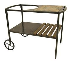 Charcoal Gray Table Cart for Cypress Ceramic Grill