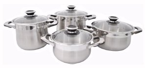 8-pc Stainless Steel Pot Set