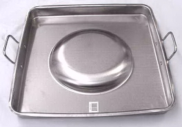 21 inch Square Convex Stainless Steel Comal