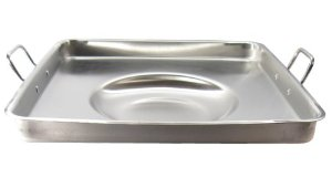 21 inch Square Concave Stainless Steel Comal