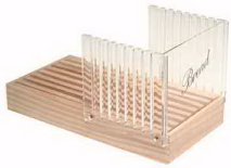 Deluxe Acrylic Bread Slicer with Crumb Catcher