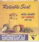 Reliable Seal Wide Mouth Jar Rubbers with Tab