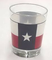 Flag of Texas Glass