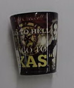 Black Davy Crockett Texas Shot Glass
