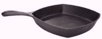 Cast Iron 10 Square Skillet w/2 inch sides