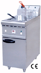 Floor Type Electric Fryer 1-Tank & 2 Baskets