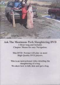 Ask The Meatmans -- Pork Slaughtering DVD