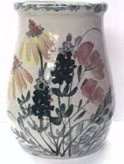 Large Crock Spoon Jar Wildflower