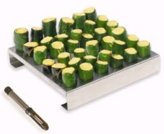 Stainless Steel Jalapeno Rack w/ Corer