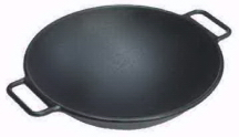 Cast Iron Wok With 2 Handles