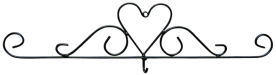 Wrought Iron Heart Calendar Hook