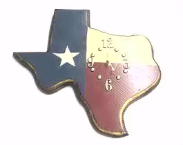 Texas Flag Clock