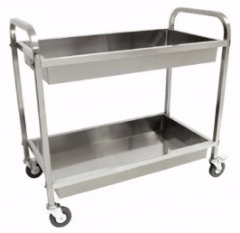 Stainless Serving Cart W/2 Trays