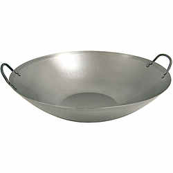 Flat Bottom Steel Wok