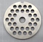 Stainless Steel Grinder Plate for #323 Or #8 w/ 6 mm holes