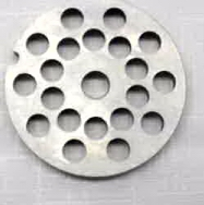 Stainless Steel Grinder Plate for #323 Or #8 w/ 8 mm holes