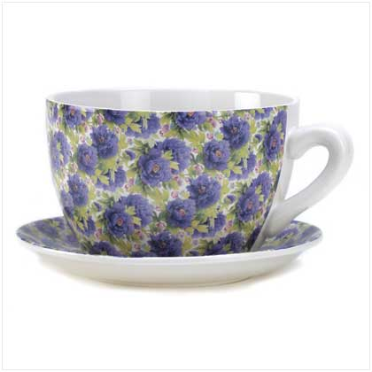 Lavender Rose Planter Teacup
