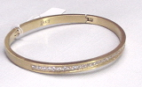 Half Eternity Gold Bangle