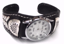 Navajo Leather Watch Bracelet