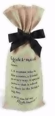 Gift Bridesmaid Wine Bag Gift