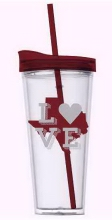 Texas Logo w/Love Maroon and Clear