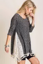 Sweater Top w/ Tassel
