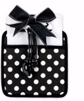Pot Holder Black/White Dots